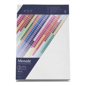 MOSAIC Creative C6 Kuverts und A6 Karten je 10 Stück weiß
