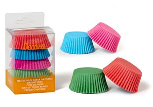 Papierbackformen Ø 5 cm 75 Stück mehrere Farben