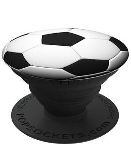 """POPSOCKETS Smartphone-Griff und -Sockel """"Fußball"""" schwarz/weiß"""