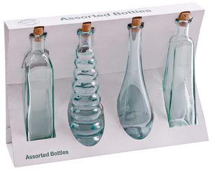 Dekoflaschen-Set aus Glas 4 Teile transparent
