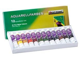 BESTPOINT Aquarellfarben 12 x 12 ml