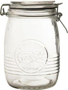 Einmachglas mit Bügelverschluss 1 Liter transparent