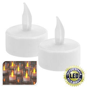 LED-Teelichter 2 Stück weiß