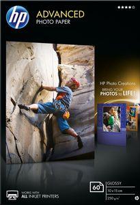 """HP Fotopapier """"Advanced"""" hochglänzend 10 x 15 cm 250 g/m² 60 Blatt"""