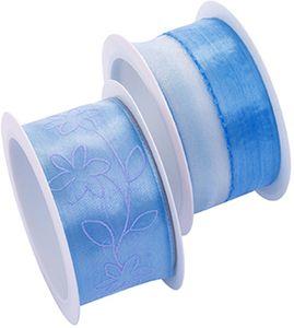 Zierbänder 2 Stück blau