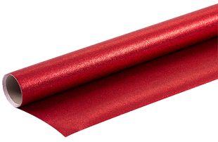 """Geschenkpapierrolle """"Glitzer"""" 1,5 m x 70 cm rot"""