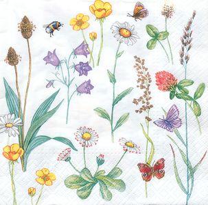 """Servietten """"Blumen"""" 20 Stück 33 x 33 cm bunt"""
