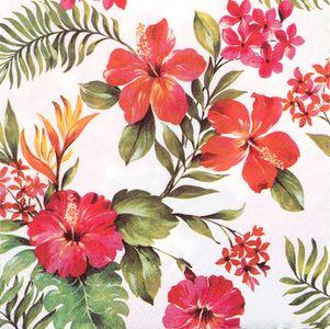 """Servietten """"tropische Blumen"""" 20 Stück 33 x 33 cm bunt"""
