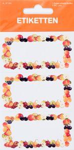 """Etiketten zum Einkochen """"Obst-Rahmen"""" 9 Stück"""