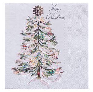 """Servietten """"Weihnachtsbaum"""" 20 Stück 3-lagig 33 x 33 cm beige"""