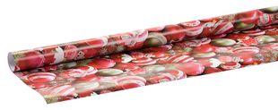 "Geschenkpapierrolle ""Christbaumkugeln"" 2 m x 70 cm rot"