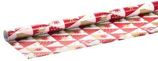 """Geschenkpapierrolle """"Weihnachten"""" 2 m x 70 cm bunt"""