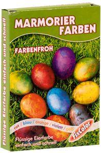 """FIXCOLOR Eierfarben """"Marmor"""" 5 Farben"""