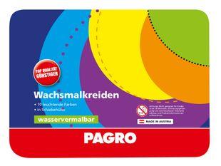 PAGRO Wachsmalkreiden wasservermalbar 10 Farben