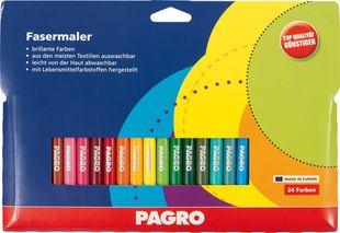 PAGRO Fasermaler 24 Stück mehrere Farben