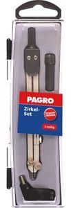 PAGRO Zirkel Set 3 Teile silber/schwarz