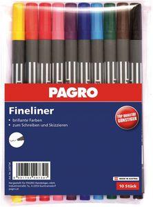 PAGRO Fineliner 10 Stück mehrere Farben