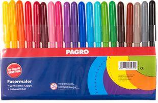 PAGRO Fasermaler 20 Stück mehrere Farben