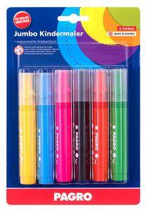 PAGRO Jumbo Kindermaler mehrere Farben 6 Stück