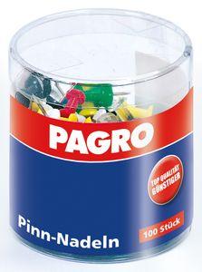PAGRO Pinnadeln 100 Stück mehrere Farben