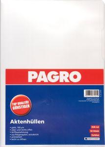 PAGRO Aktenhüllen A4 160 mµ 10 Stück transparent glatt