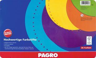 PAGRO Dickkernbuntstifte 36 Stück verschiedene Farben