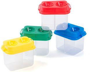 Malbecher mit 2 Tanks verschiedene Farben