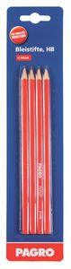 PAGRO Bleistift HB 4 Stück rot
