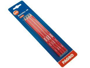 PAGRO Bleistift  HB/Nr.2 4 Stück rot