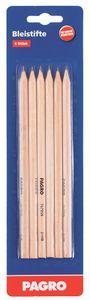PAGRO Bleistifte verschiedene Härtegrade 6 Stück braun