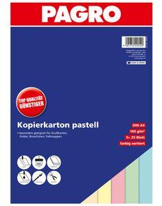 PAGRO Kopierkarton A4 160 g pastell mehrere Farben