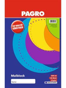 PAGRO Malblock A4 120 Blatt weiß