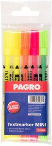 PAGRO Textmarker MINI 5 Stück mehrere Farben