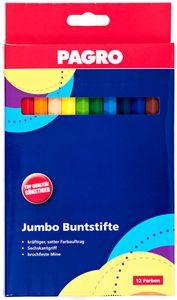 PAGRO Jumbo Buntstifte 12 Stück
