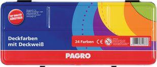 PAGRO Deckfarbkasten 24 Farben