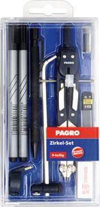 PAGRO Zirkel-Set 9 Teile blau