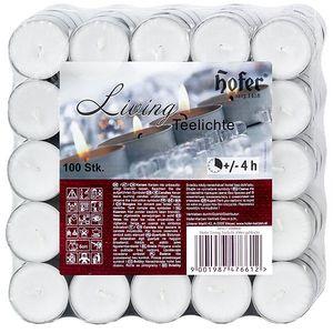 HOFER Teelichter 100 Stück weiß