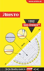 "ARISTO Geodreieck ""1552"" 16 cm transparent"