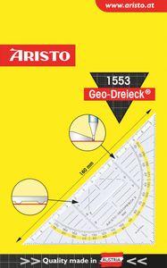"""ARISTO Geodreieck """"1553"""" mit Griff 16 cm transparent"""