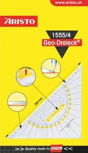 """ARISTO Geodreieck """"1555/4"""" mit Griff 25 cm transparent"""