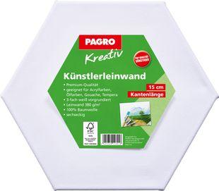 PAGRO KREATIV Keilrahmen sechseckig 15 cm weiß