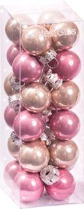 Christbaumkugeln aus Glas 24 Stück Ø 20 mm rosa