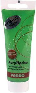PAGRO Acryl-Farbe 100 ml metallic hellgrün