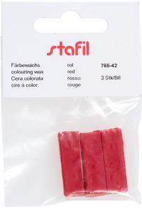 STAFIL Färbewachs 3 Stück rot