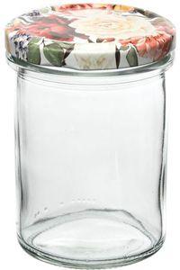 """Einmachgläser """"Rosen"""" mit Deckel 230 ml 6 Stück"""