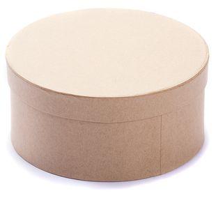 Bastelboxen rund verschiedene Größen 3 Stück braun