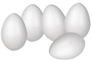 Ostereier aus Styropor 5 Stück 5,8 cm weiß
