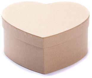 Bastelboxen herzförmig verschiedene Größen 3 Stück braun