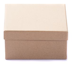 Bastelboxen quadratisch verschiedene Größen 3 Stück braun