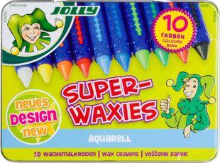 """JOLLY Wachsmalkreiden """"Aquarell"""" 10 Farben"""